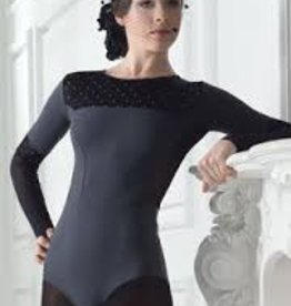 Grishko Grishko Polka Dots- Long Sleeve Leotard