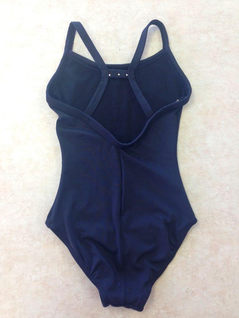 So Danca So Danca-D-818-Blk-4-6-Bodysuit w/ Cross Back