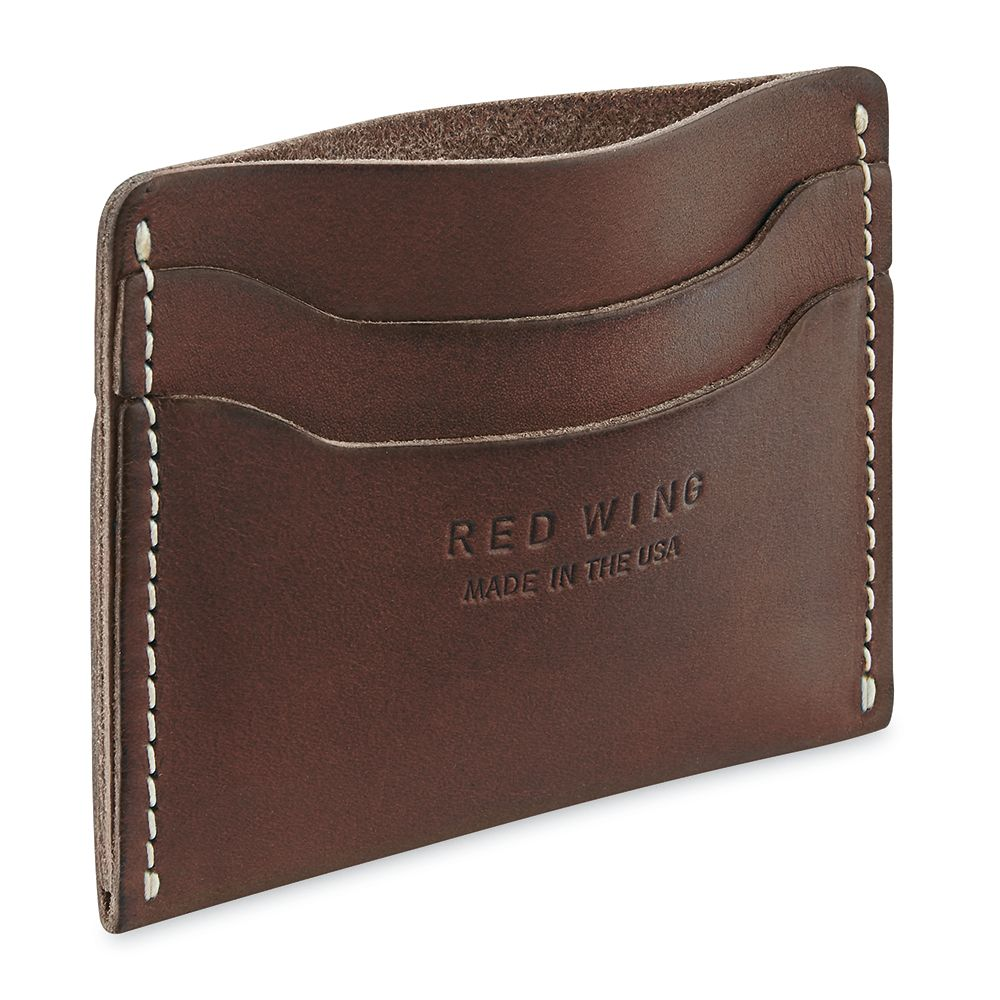 Red Wing Red Wing Card Holder 95035 - Amber Frontier Leather