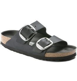 Birkenstock Birkenstock Arizona Big Buckle Oiled Leather (Femmes - Étroit) - Black/Silver