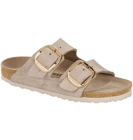 Birkenstock Birkenstock Arizona Big Buckle (Women/Narrow) - Washed Metallic Rose/Gold