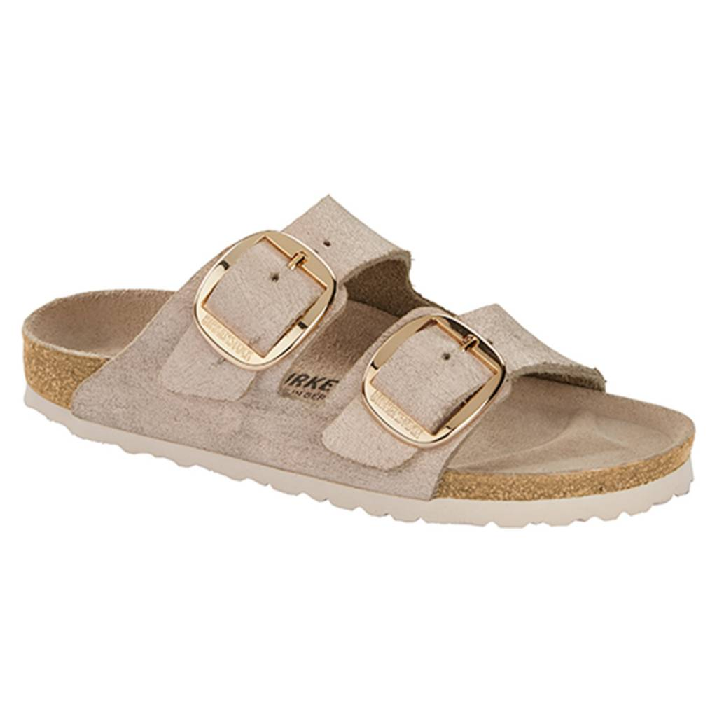Birkenstock Birkenstock Arizona Big Buckle Leather (Women/Narrow) - Washed Metallic Rose/Gold