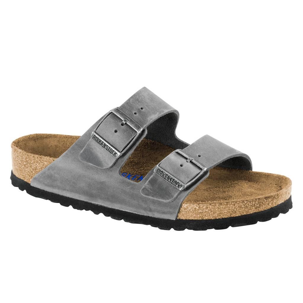 Birkenstock Birkenstock Arizona Soft  Footbed- Oiled  Leather (Men - Regular) - Iron