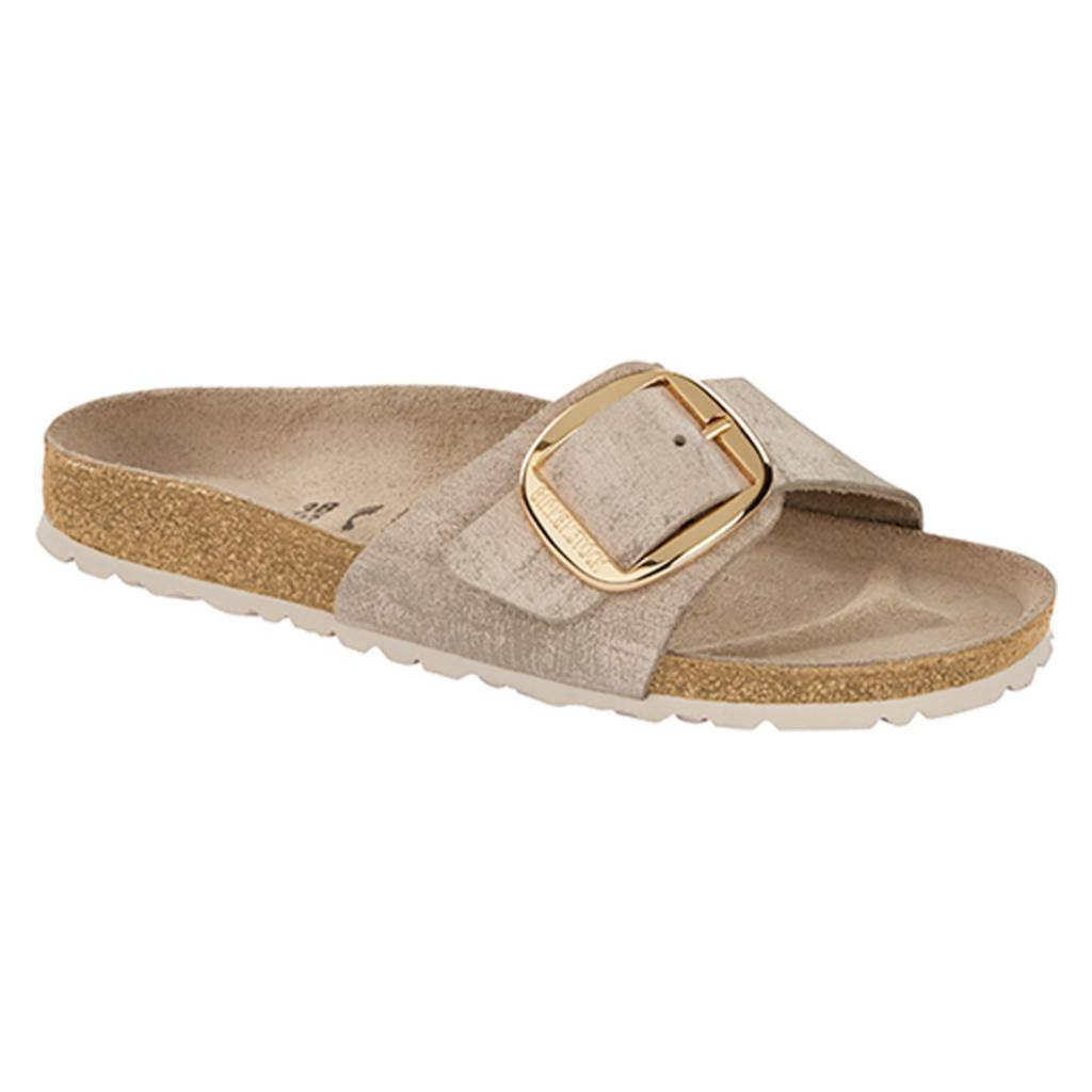 Birkenstock Madrid Big Buckle Washed Metallic RoseGold