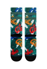 Stance Stance Aloha Leaves - Green