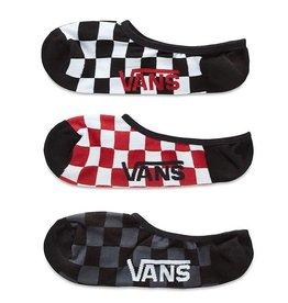 Vans Vans Chaussettes Classic Super No Show - Red/White Check