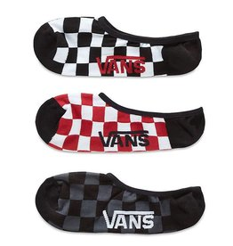 Vans Vans Classic Super No Show Socks - Red/White Check