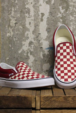 Vans Vans Slip-On - Rumba Red/True White (Checkerboard)