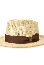 Brixton Brixton Swindle Straw Fedora - Dark Tan