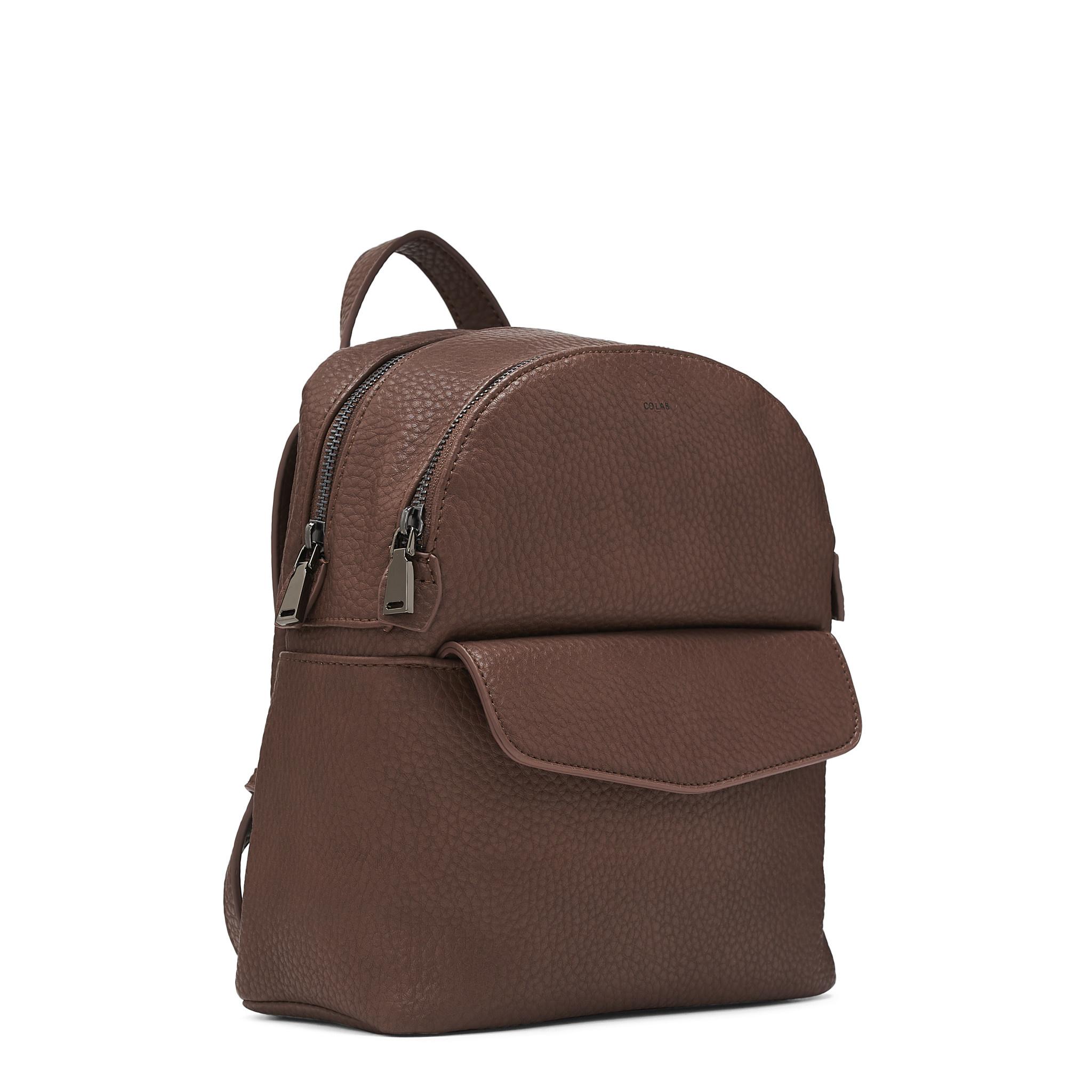 Colab Colab Pebble P.U. Mini Backpack (#6336) - Oak