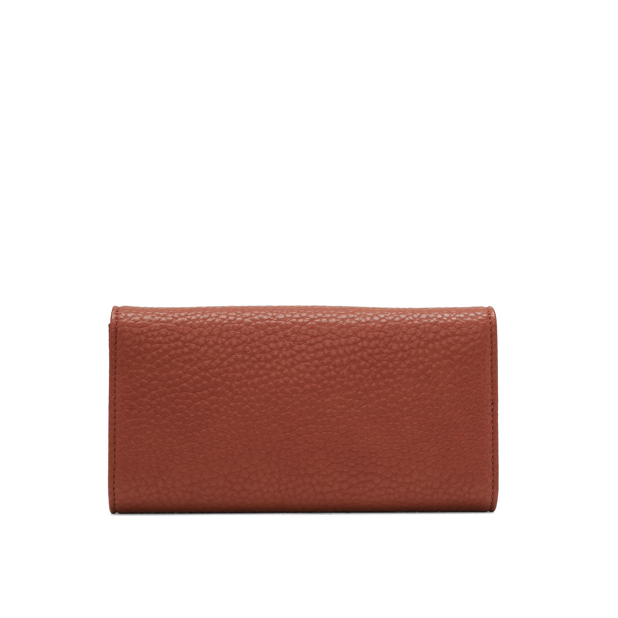 Colab Colab Pebble P.U. Tri-Fold Card Wallet (#6116) - Pumpkin
