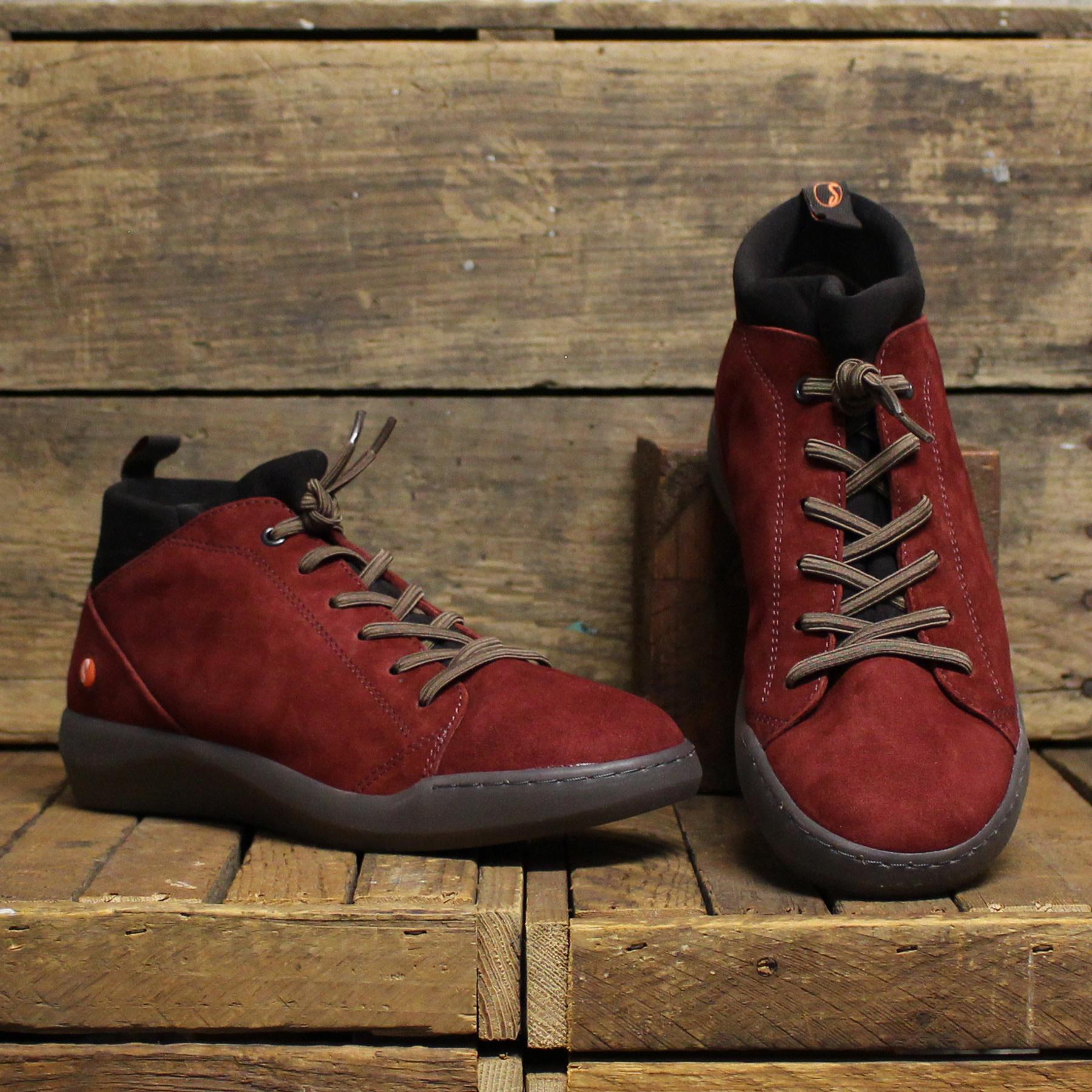 Softinos Softinos BIEL Ranch Leather - Dark Red/Dark Brown