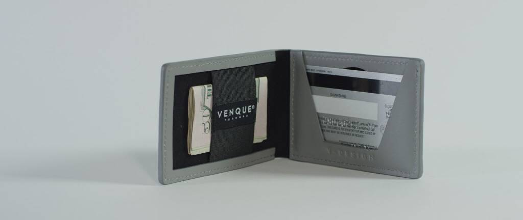 Venque Venque Slim Wallet - Grey