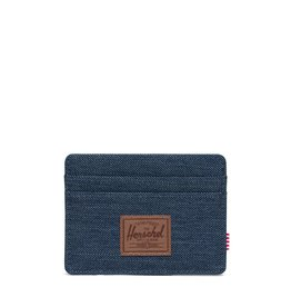 Herschel Supply Co. Herschel Charlie Wallet - Indigo Denim Crosshatch/Saddle Brown