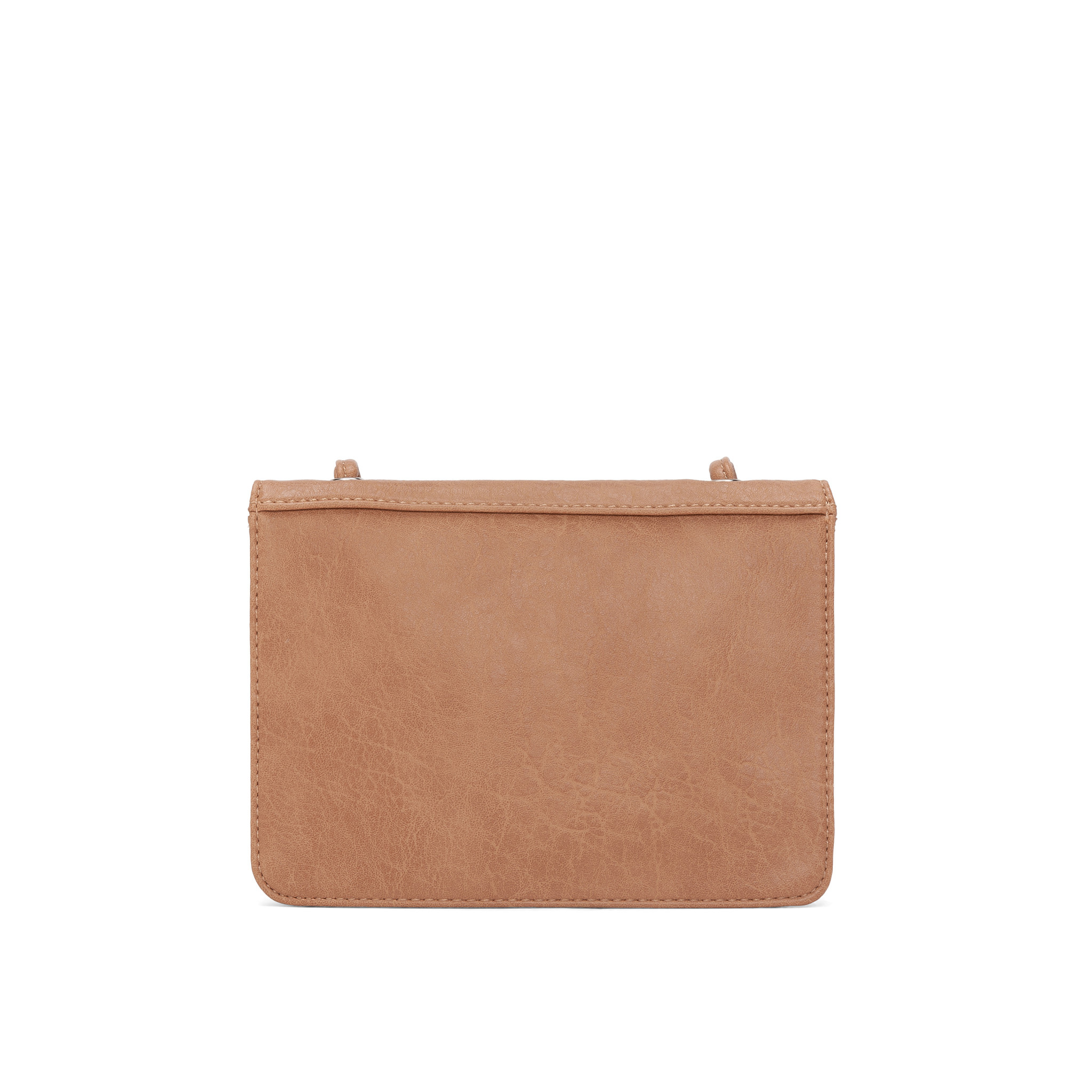 Colab Colab Faux Goat PU Crossbody Carryall (#6426) - Cashew