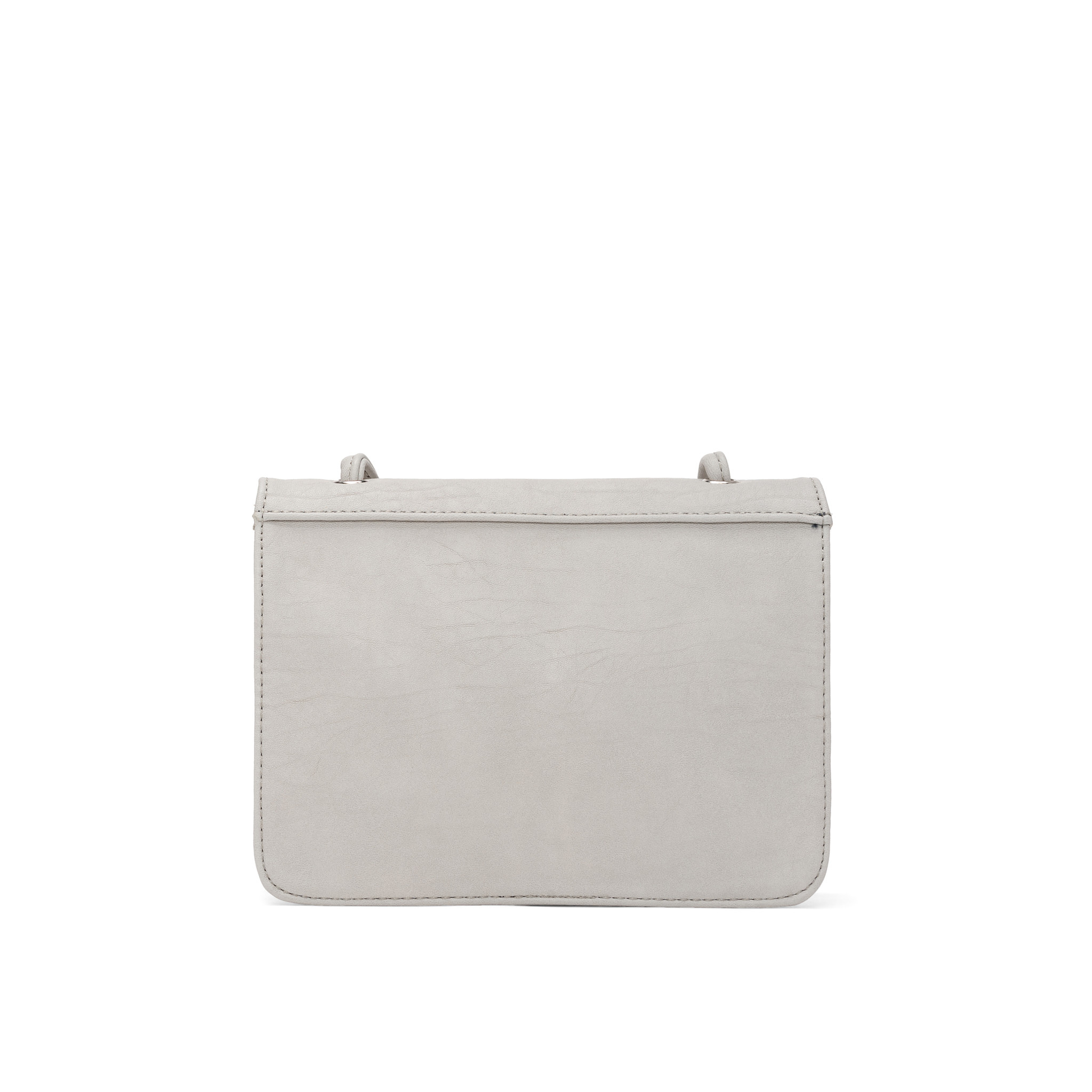 Colab Colab Faux Goat PU Crossbody Carryall (#6426) - Ice
