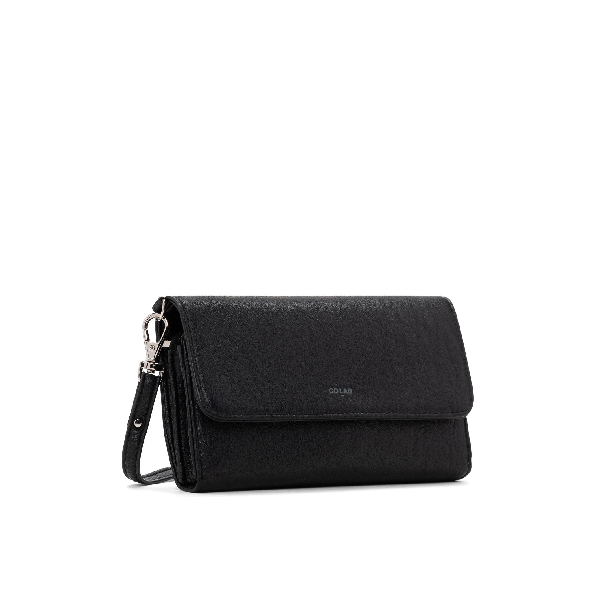 Colab Colab Washed Vintage 2.0 Wallet Crossbody (#6407) - Black