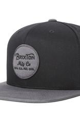 Brixton Brixton Wheeler Snapback - Black/Charcoal