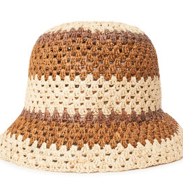 Brixton Brixton Essex Raffia Bucket Hat - Tan/Brown