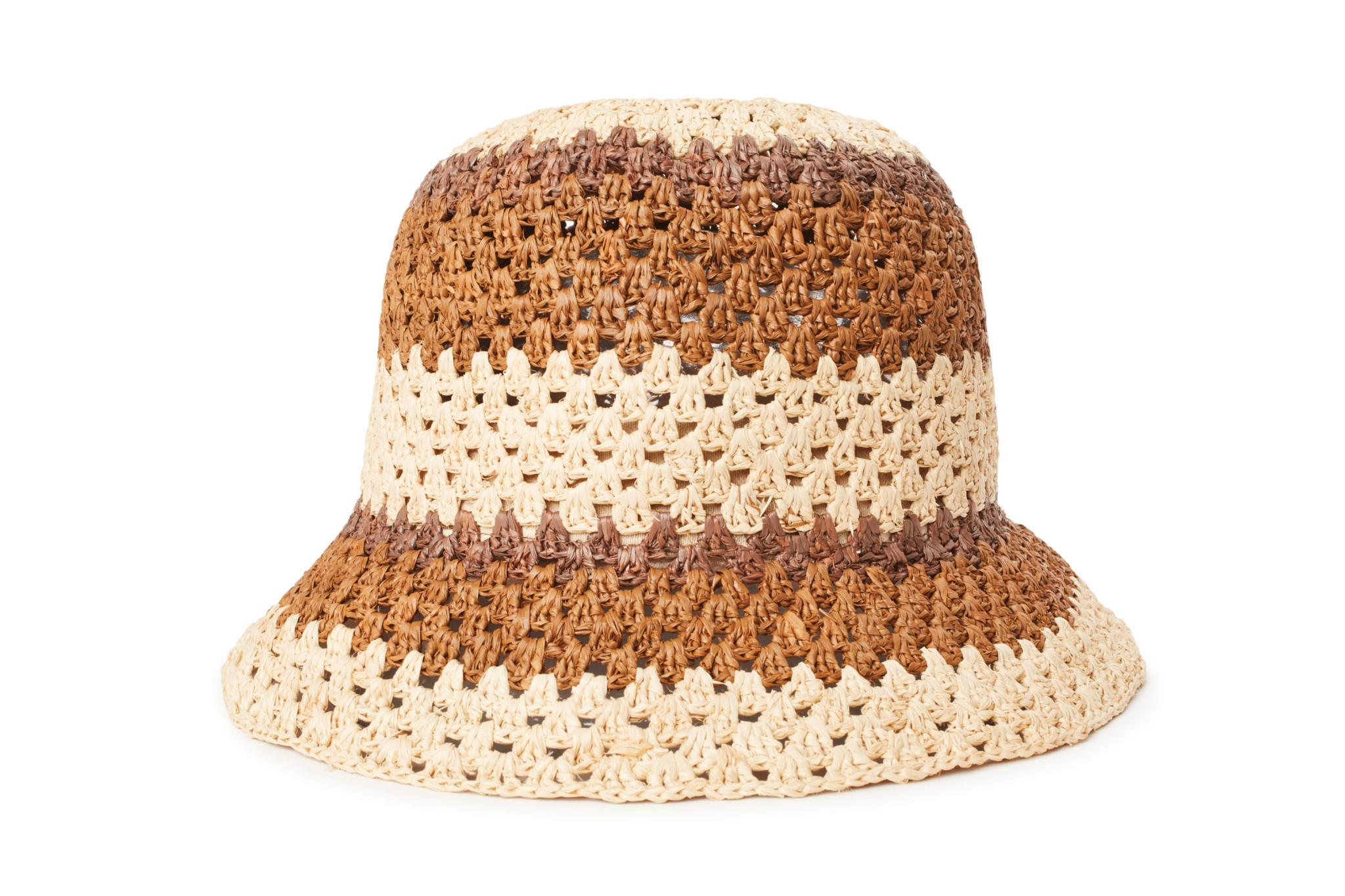 Brixton Brixton Essex Raffia Bucket Hat - Tan/Brown