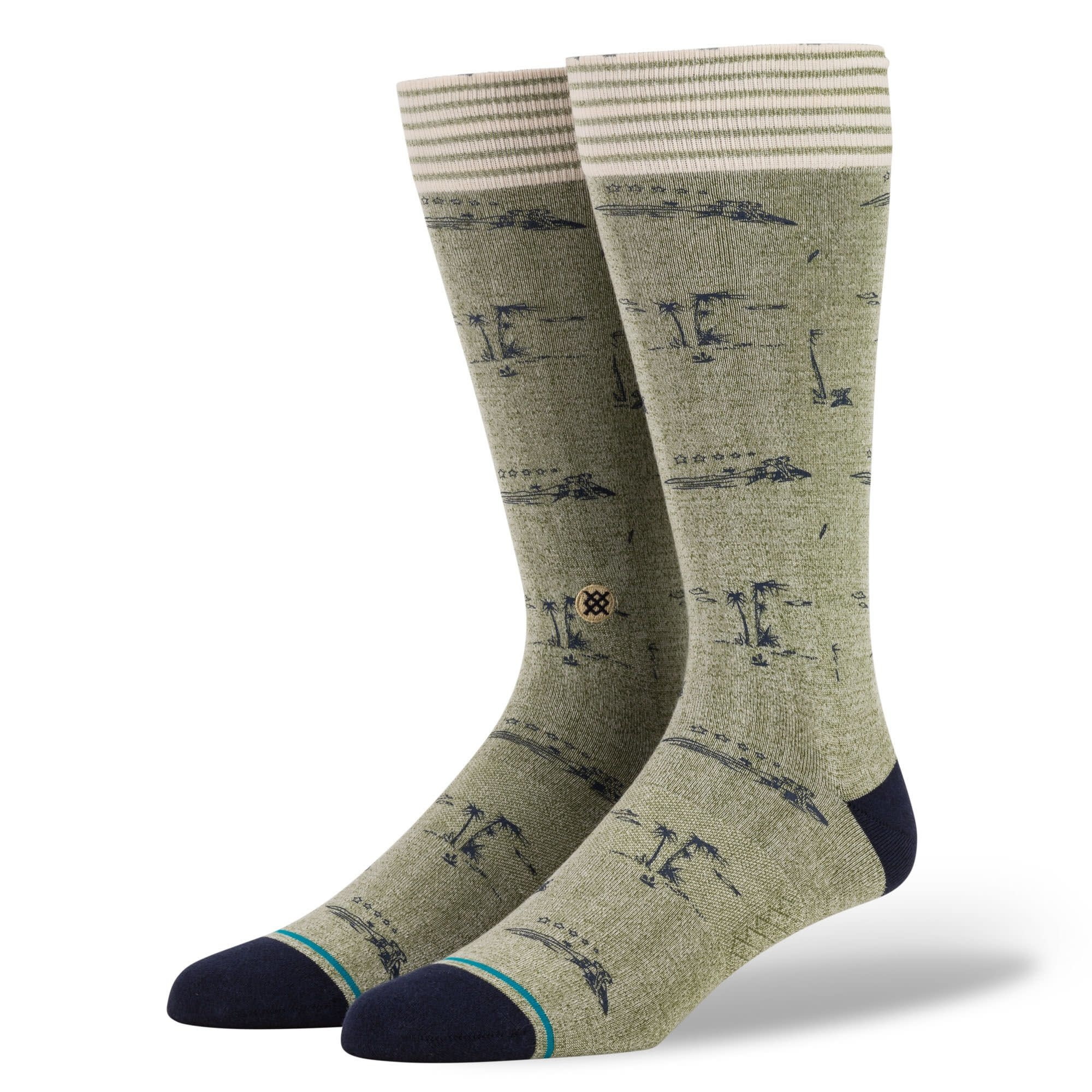 Stance Stance Isle Tropics - Army Green