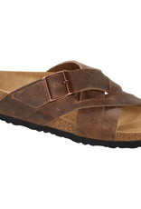 Birkenstock Birkenstock Lugano Oiled Leather (Men - Regular) - Camberra Tobacco