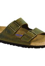 Birkenstock Birkenstock Arizona Soft Footbed - Cuir Huilé (Hommes - Régulier) - Jade