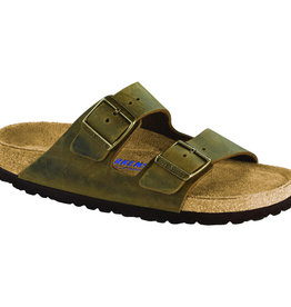 Birkenstock Birkenstock Arizona Soft Footbed - Oiled Leather (Men - Regular) - Jade