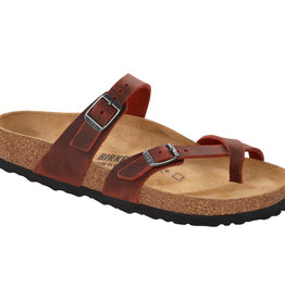 Birkenstock Birkenstock Mayari Oiled Leather (Women - Regular) - Earth Red