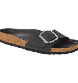 Birkenstock Birkenstock Madrid Big Buckle Oiled Leather (Femmes - Étroit) - Black/Silver