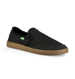 Sanuk Sanuk Vagabond Slip-On Wide Sneaker - Black/Gum