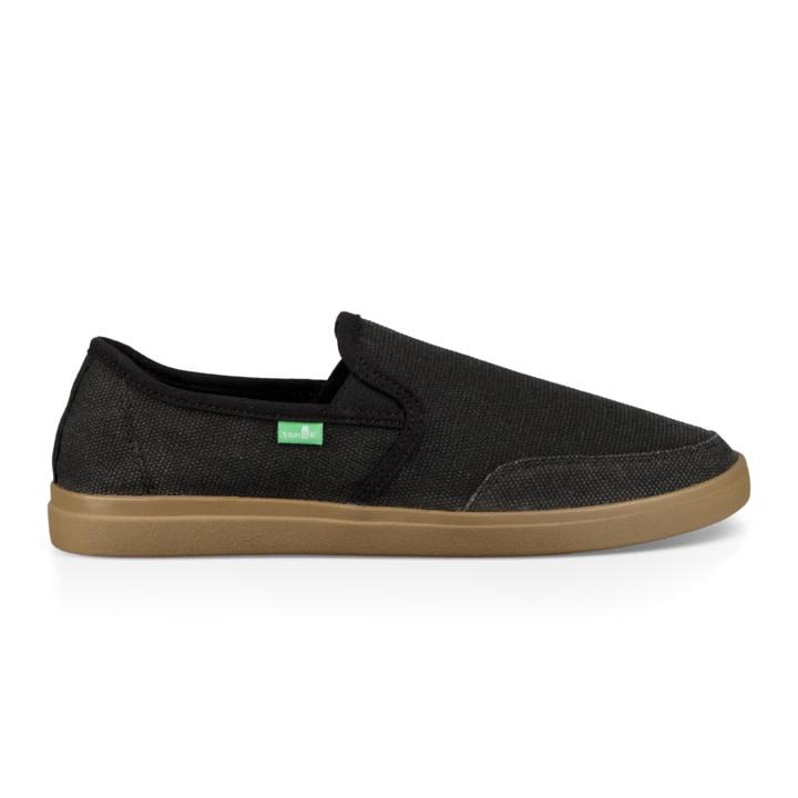 Sanuk Sanuk Vagabond Slip-On Wide Sneaker - Black/Gum