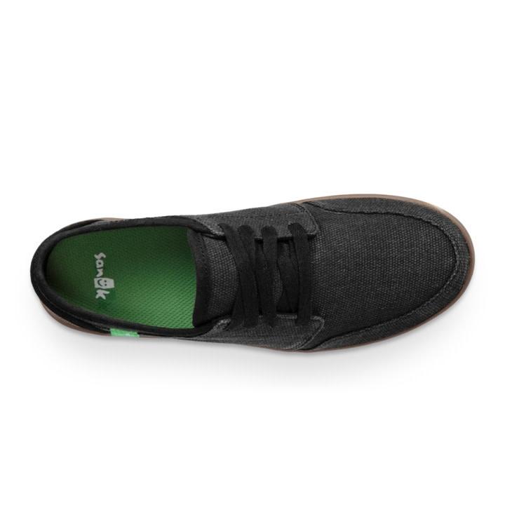 Sanuk Sanuk Vagabond Lace Sneaker - Black/Gum