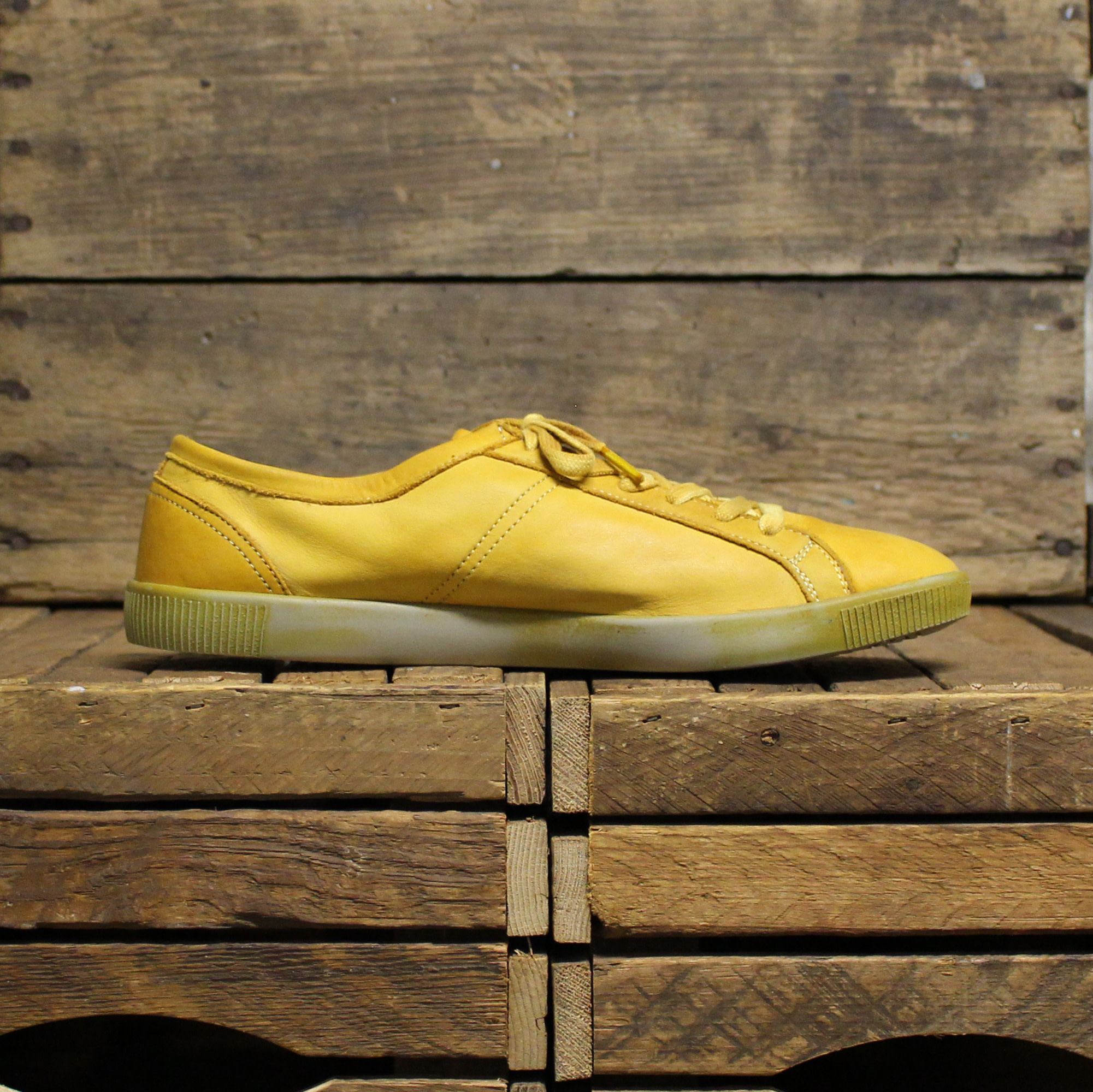 Softinos Softinos TOM Washed Leather - Mustard