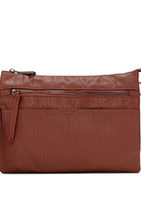 Colab Colab Washed Vintage Clutch Crossbody (#6347) - Cocoa