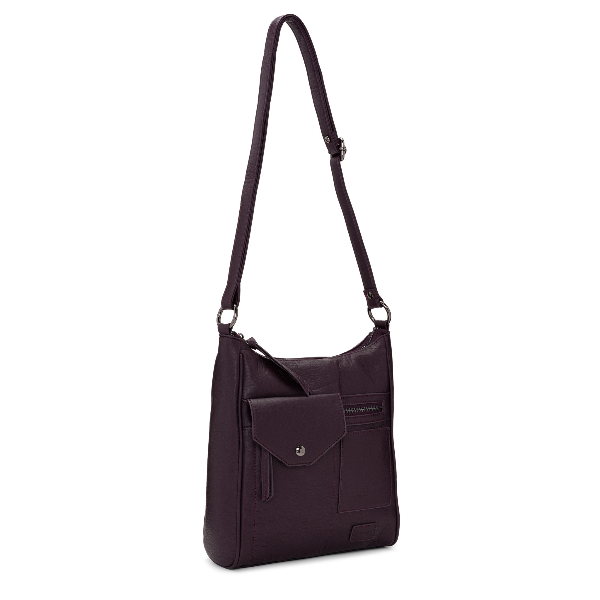 Colab Colab Washed Vintage Multipocket Crossbody (#6498) - Deep Plum