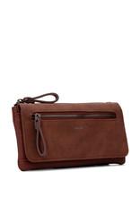 Colab Colab Suede PU Wallet w/flap (#6508) - Cognac