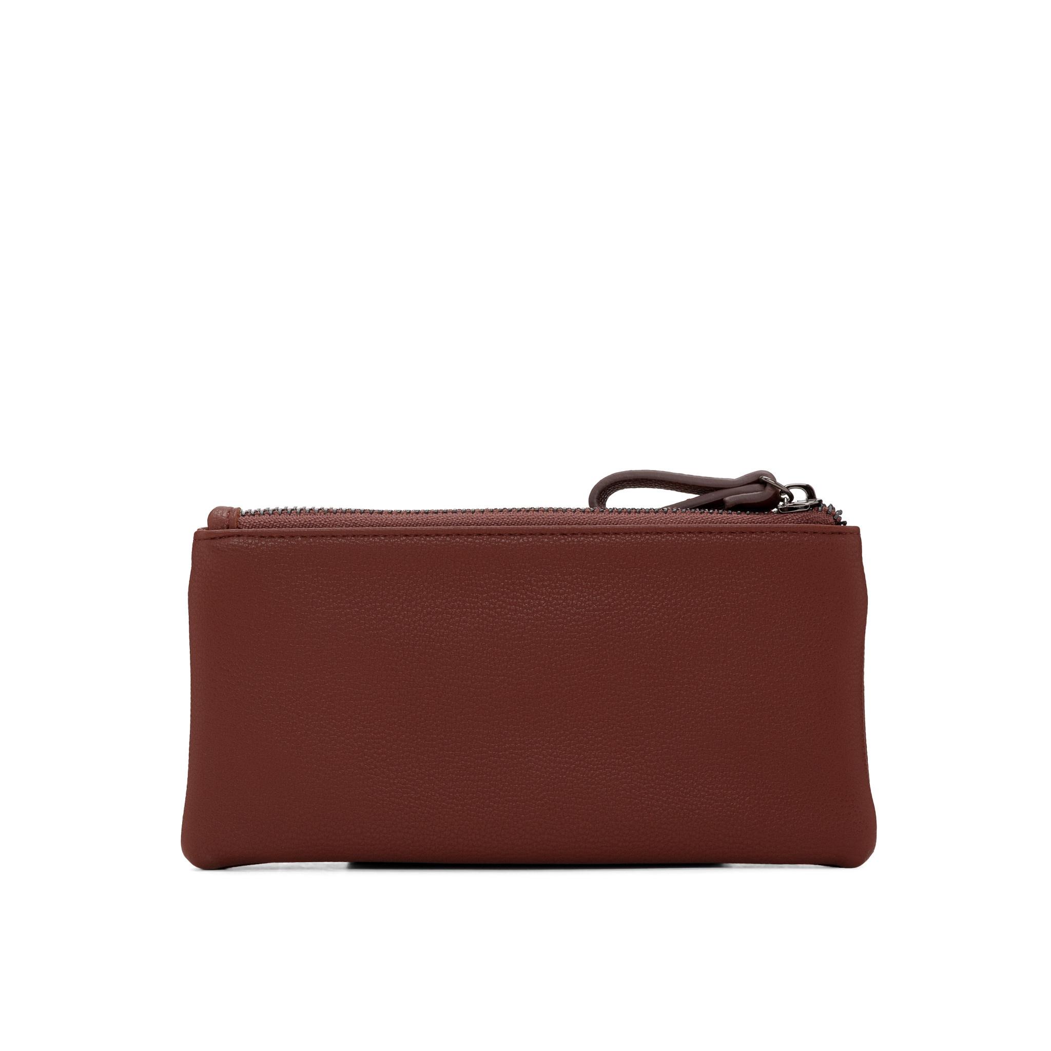 Colab Colab Tara Suede PU Wallet w/flap (#6508) - Cognac