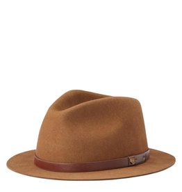 Brixton Brixton Messer Short Brim Fedora - Coffee