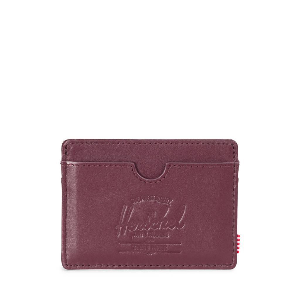 Herschel Supply Co. Herschel Charlie Leather - Windsor Wine/Textured Leather