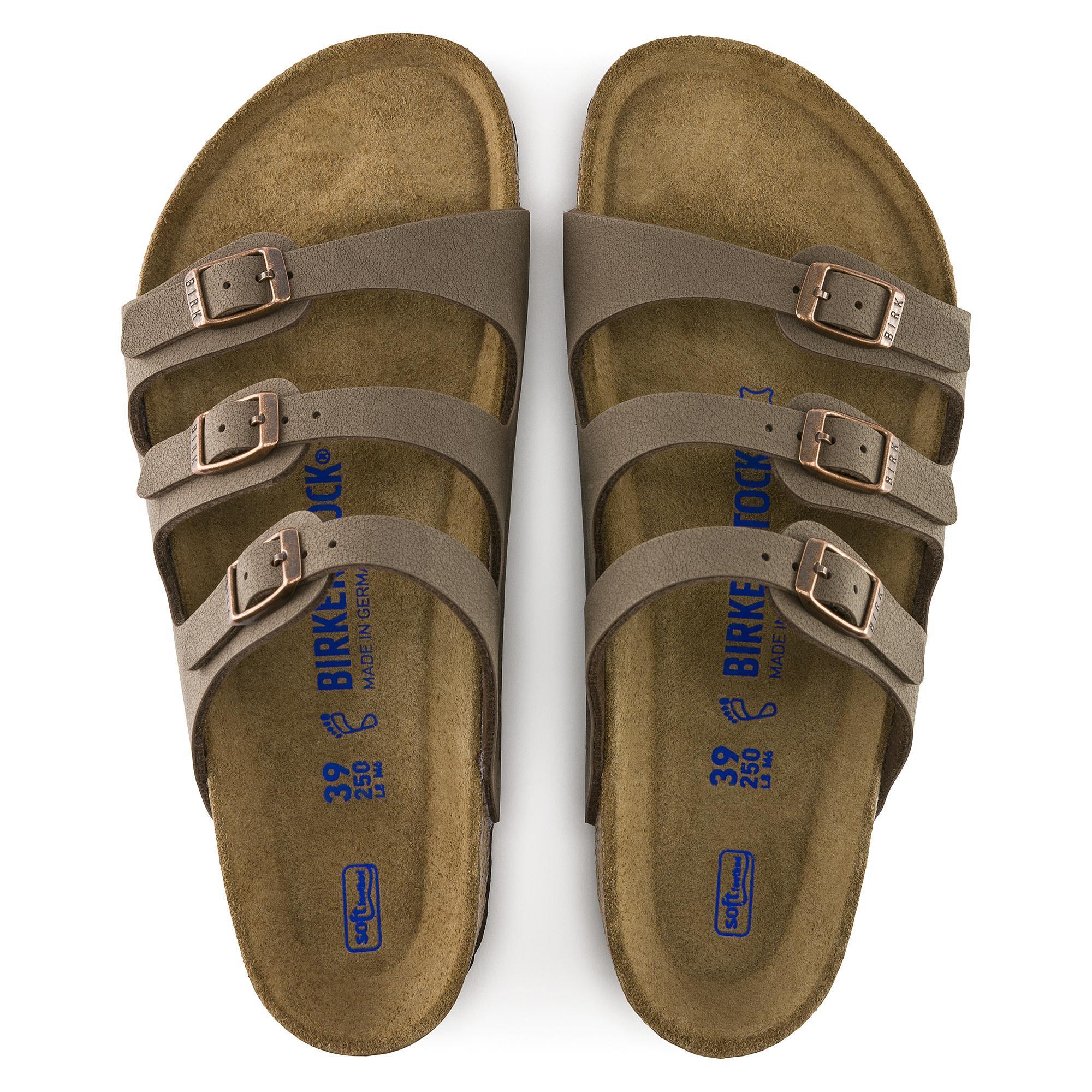 Birkenstock Birkenstock Florida Soft Footbed Birkibuc (Women - Regular) - Mocha
