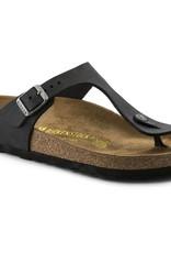 Birkenstock Birkenstock Gizeh Oiled Leather (Women - Regular) - Black