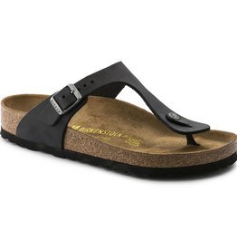 Birkenstock Birkenstock Gizeh Oiled Leather (Women - Regular) - Black