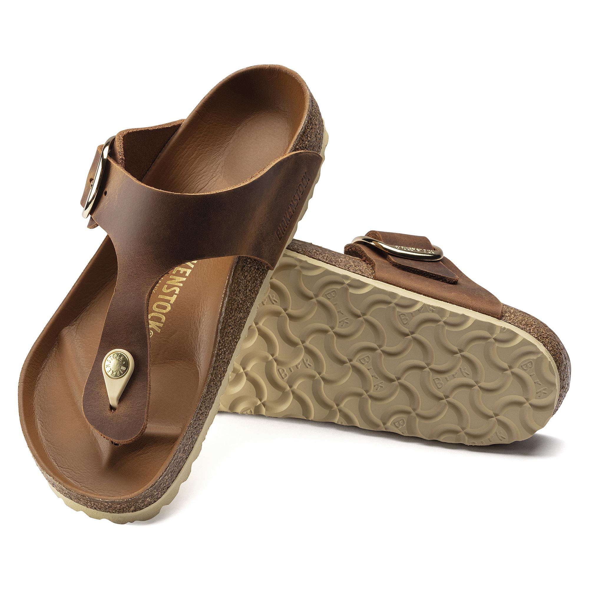 Birkenstock Birkenstock Gizeh Big Buckle Leather (Femmes - Régulier) - Cognac
