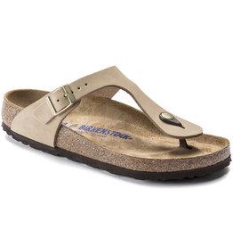 Birkenstock Birkenstock Gizeh Soft Footbed Nubuck (Femmes - Régulier) - Sandcastle