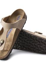 Birkenstock Birkenstock Gizeh Soft Footbed Nubuck (Women - Regular) - Sandcastle