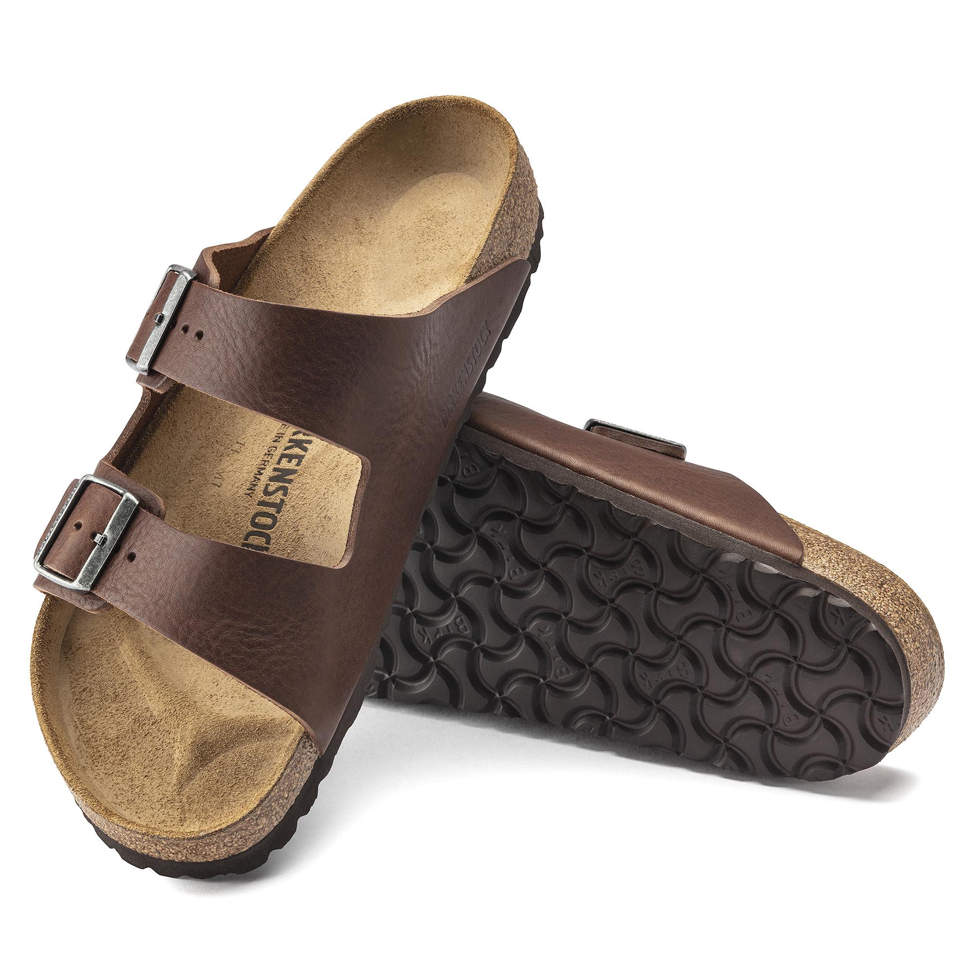 Birkenstock Birkenstock Arizona  Leather (Hommes - Régulier) - Vintage Roast