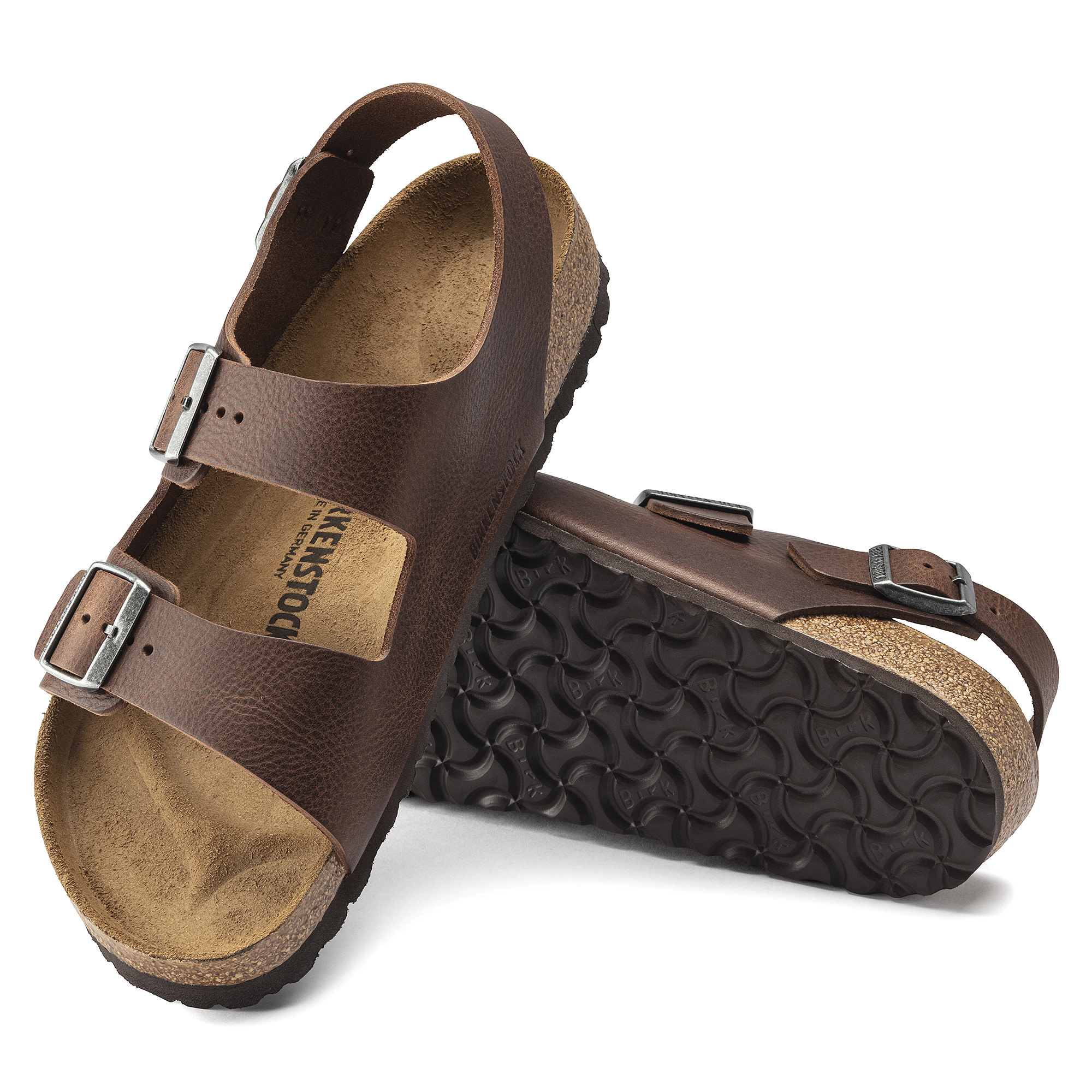 Birkenstock Birkenstock Milano  Leather (Hommes - Régulier) - Vintage Roast
