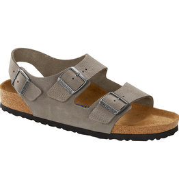 Birkenstock Birkenstock Milano Soft Footbed -  Nubuck (Men - Regular) - Soft Whale Grey