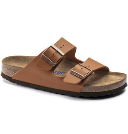 Birkenstock Birkenstock Arizona Soft Footbed - Birko-Flor (Women - Narrow) - Ginger Brown